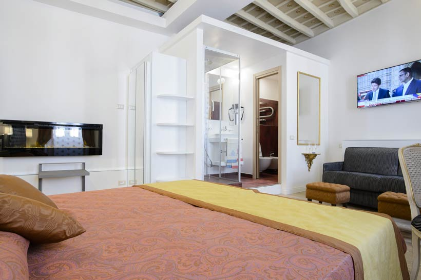 bed and breakfast excellent trinity rooms in the center of rome. - Athena Arredo Bagno